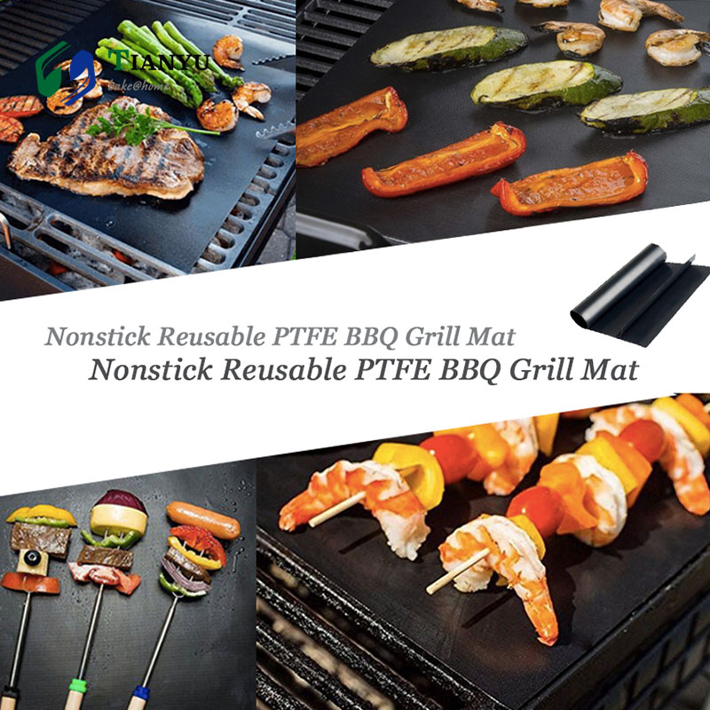 Hot Sale 40 50 Nonstick Heavey Duty Bbq Grill Mat For Under Grill Best For Outdoor Barbecue Baking And Oven Liner Tianyu Bake Home