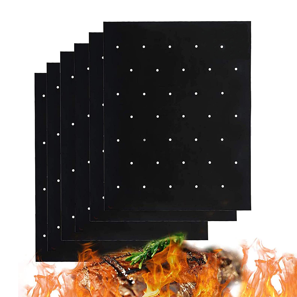 Grill Mats for Outdoor Grill with Holes – Reusable Grilling Mat with Holes for Venting, Non-stick Grill Mats for Outdoor Grill