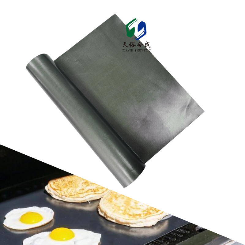 Non-stick BBQ Grill Mat - Upgraded Ultra Thick Platinum Reusable Barbecue Mat for Outdoor Grill - Easy to Clean