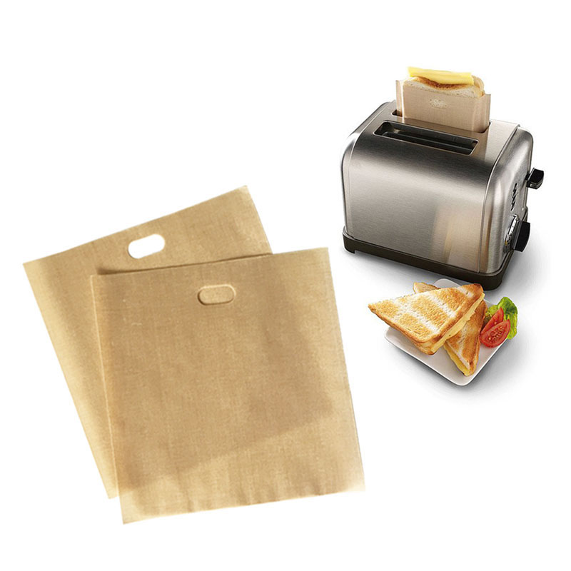 Non-stick Reusable Toaster Bags - Heat-Resistant Grilled Cheese Toaster Bag for Sandwiches Pastries Pizza Slices