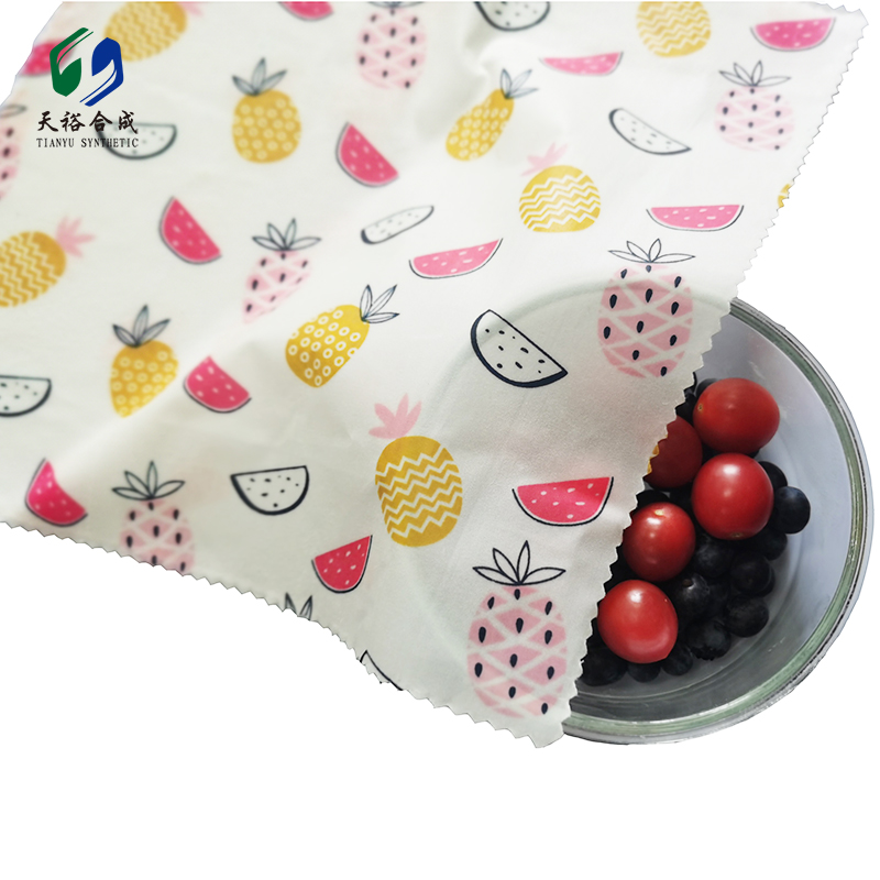 Beeswax Reusable Food Wraps - Sustainable Natural Food Wrap for Preserving Fruit, Vegetables, Sandwiches, Plastic Free and No Waste