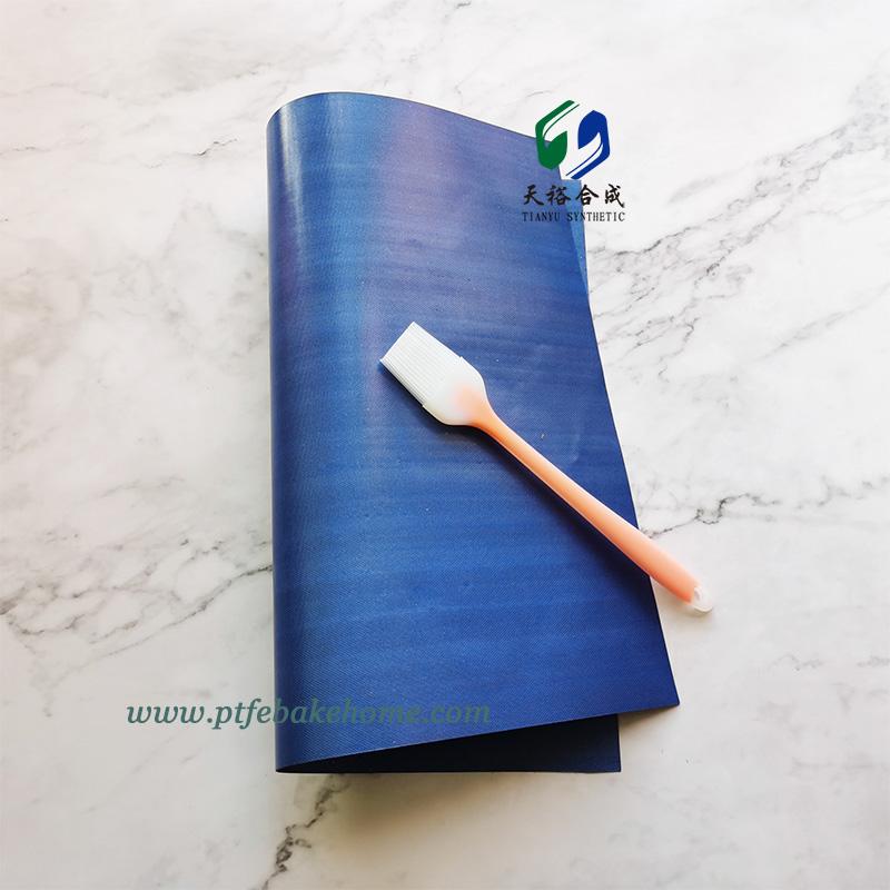 Colored Non-Stick Grilling Mat Royal Blue - Heat-resistant PTFE Grill BBQ Mat, Reusable Grill Sheet Baking Mat