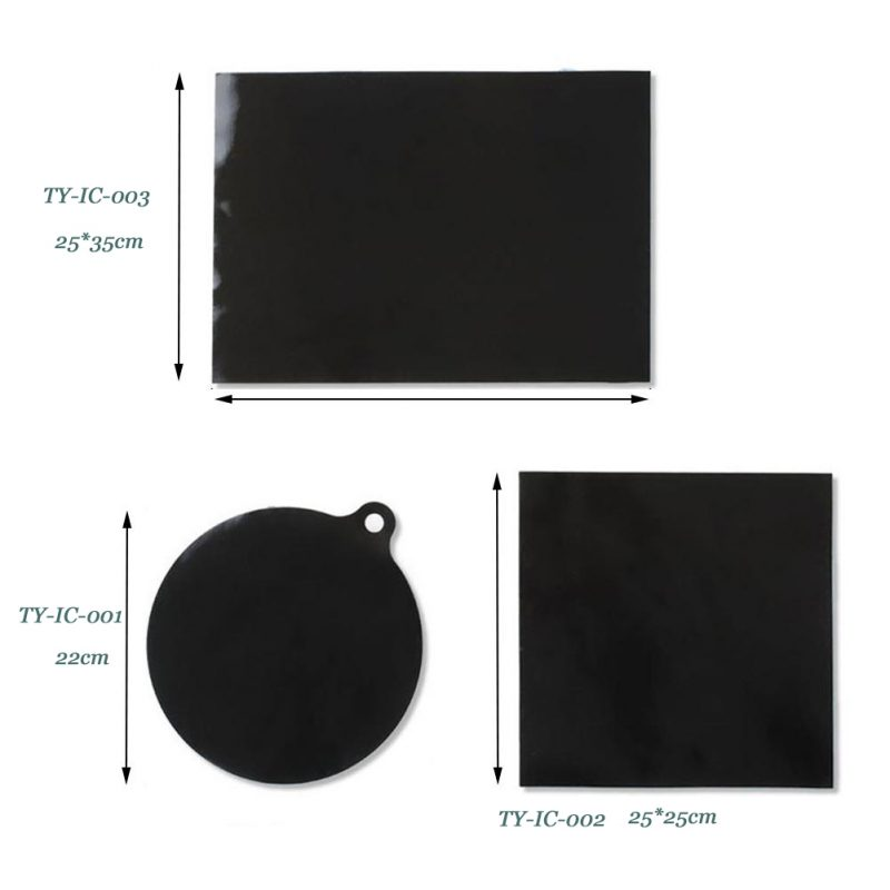Induction Cooktop Protection Mat – Non-slip Silicone Fiberglass Protector Heat Insulation Pad for Magnetic Induction Cooktop