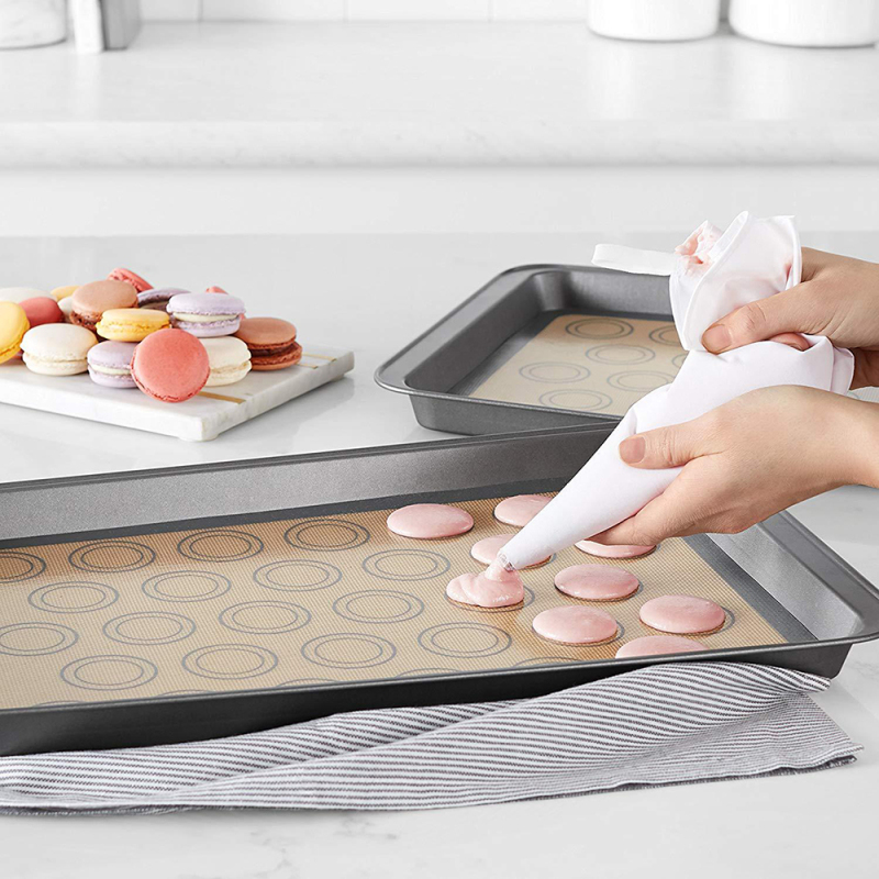 Macaron Silicone Baking Mat - Heat Resistant Non-stick Macaron Baking Mat, Heat-Resistant Cooking Bakeware Mat for Making Macarons, Pastry, Pizza, Bread
