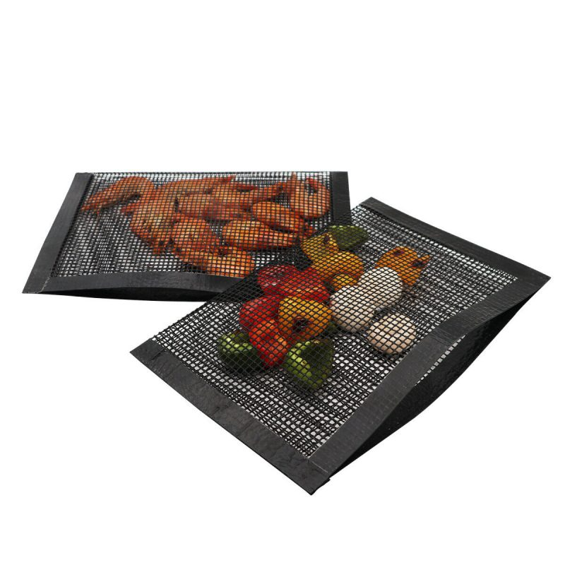 Non Stick Mesh Bag For Grill - PTFE Heat-Resistant Grilling Pouch for Barbecue, Reusable Grill Mesh Pockets 20*30cm