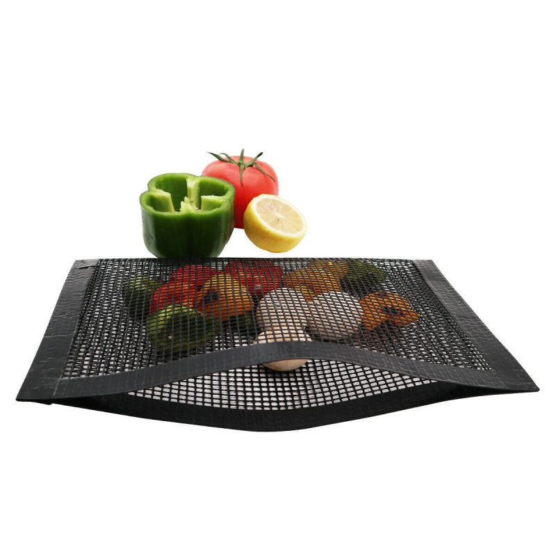 Non-Stick Mesh Bag For Grill - PTFE Heat-Resistant Grilling Pouch for Barbecue, Reusable Grill Mesh Pockets 20*30cm