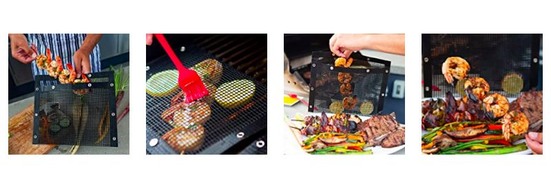 Non-stick BBQ Mesh Bags - Reusable PTFE Mesh Grilling Pockets for Indoor Outdoor Charcoal Barbecue Grill Bag Accessories4