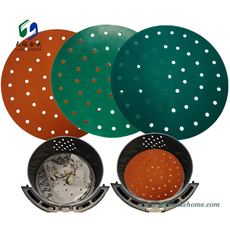 Reusable Air Fryer Liner - Round Perforated Parchment Non-stick Air Fryer Liners, Bamboo Steamer Liner2