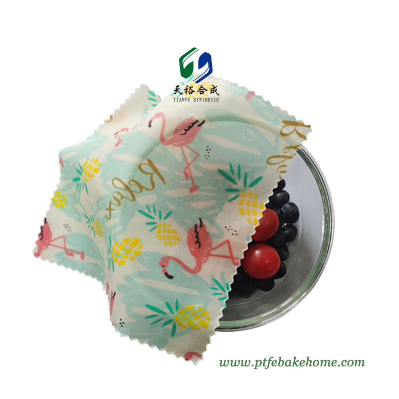 Reusable Beeswax Food Wrap - Eco-friendly Zero Waste Beeswax Wrapping for Food Storage & Covering Bowls