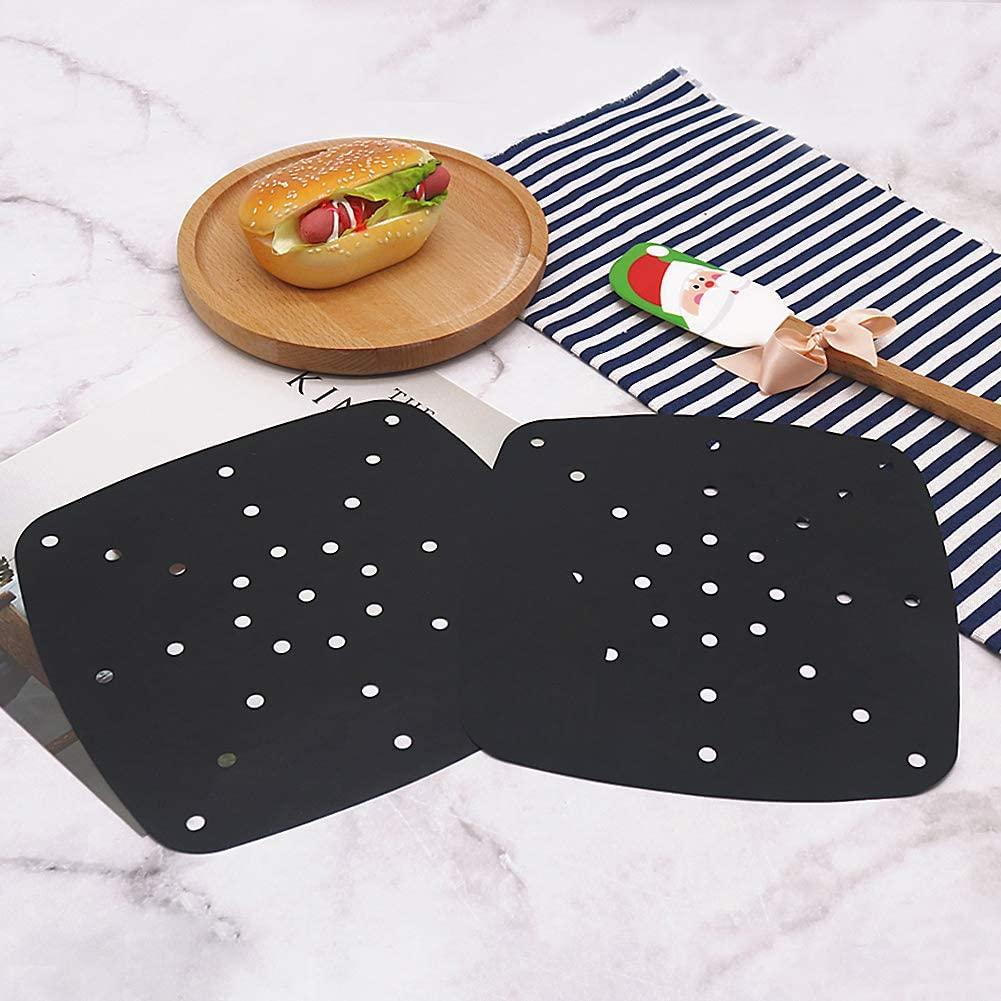 Reusable Square Air Fryer Liners - Non-stick Fiberglass Fabric PTFE coated Air Fryer Mats, Kitchen Accessories